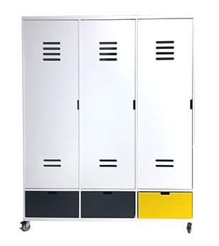 Armoire à roulettes Mix et Match Locker 3 portes