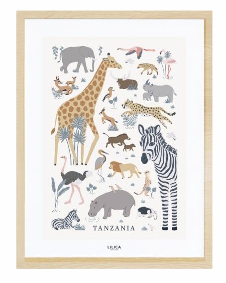 Affiche encadrée Tanzania