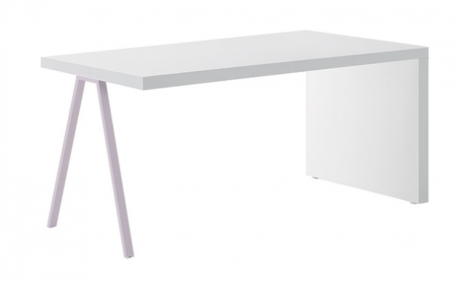 Bureau simple table de bureau simple en bois h76 x l120 x for Bureau simple blanc