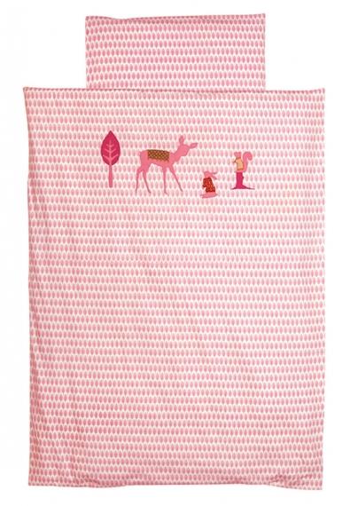 Parure de lit 140x200 Little Deer Pink