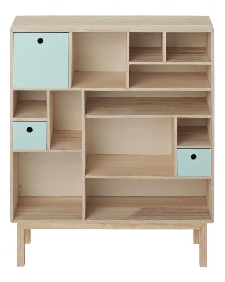biblioth que cabinet m bloomingville file dans ta chambre. Black Bedroom Furniture Sets. Home Design Ideas