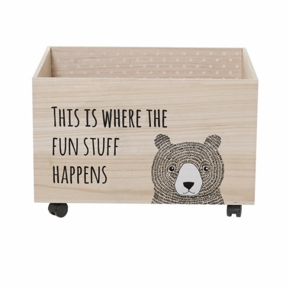coffre jouets bear bloomingville file dans ta chambre. Black Bedroom Furniture Sets. Home Design Ideas