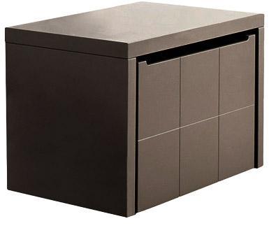 coffre jouets quarr. Black Bedroom Furniture Sets. Home Design Ideas