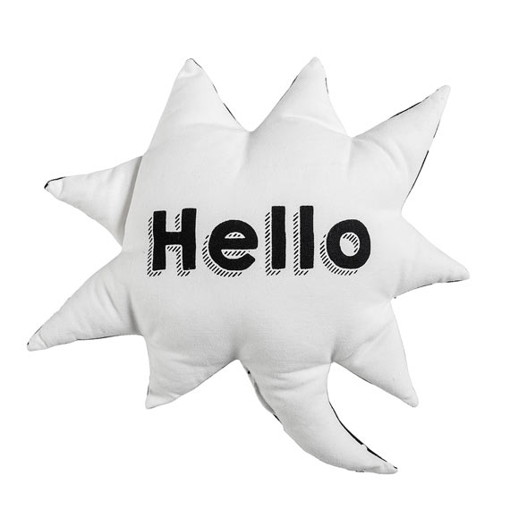 Coussin Hello