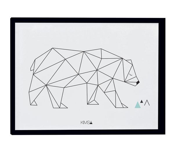 Affiche encadrée Origami Bear