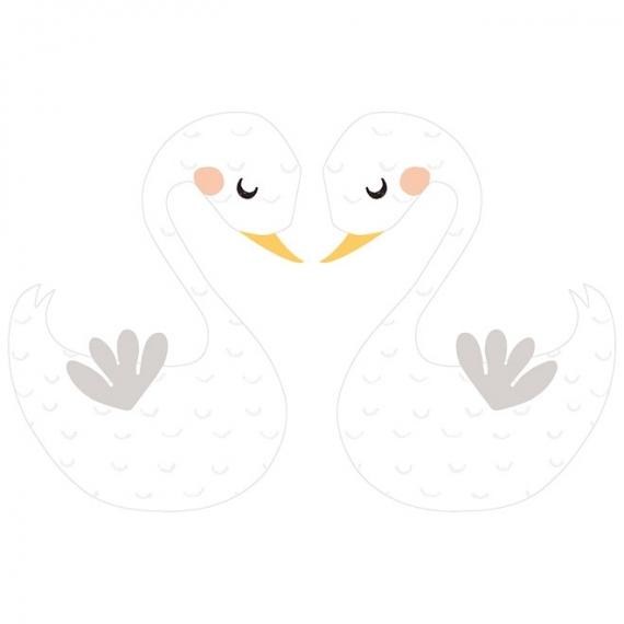 Sticker XL Duo de Cygnes