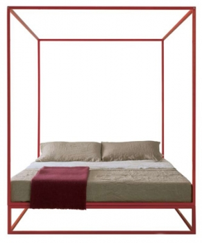 lit asha baldaquin 160x200 xam file dans ta chambre. Black Bedroom Furniture Sets. Home Design Ideas