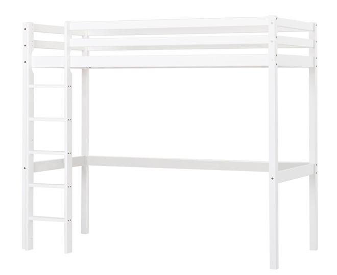 lit mezza volutif basic hoppekids blanc file dans. Black Bedroom Furniture Sets. Home Design Ideas