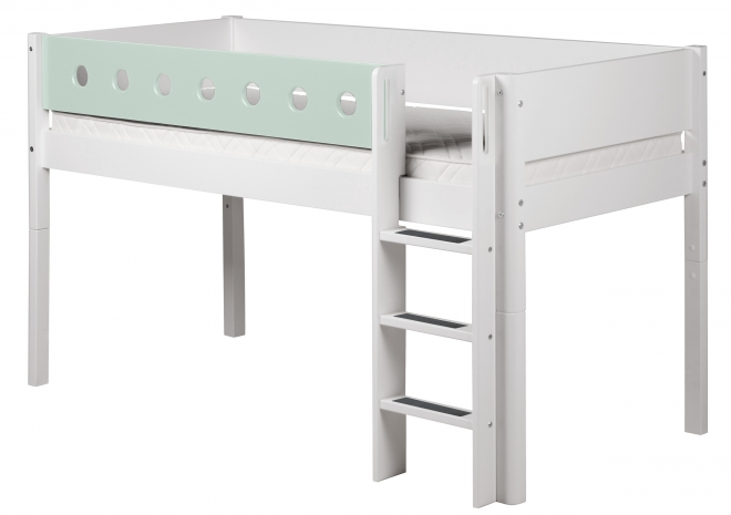 lit mezzanine volutif mi hauteur white 90x190 flexa. Black Bedroom Furniture Sets. Home Design Ideas