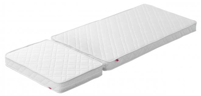 Matelas pour lit enfant extensible White