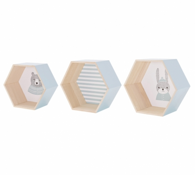 Niche Sweet Hexagonal - Lot de 3