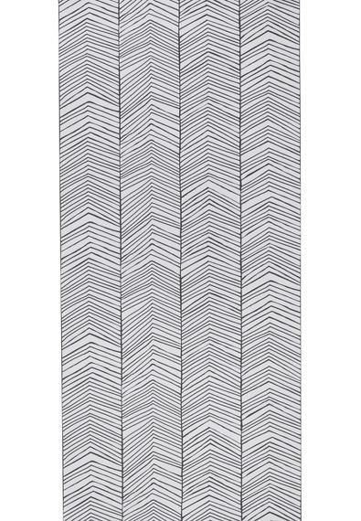 Papier peint herringbone ferm living file dans ta chambre - Papier peint rayure noir et blanc ...