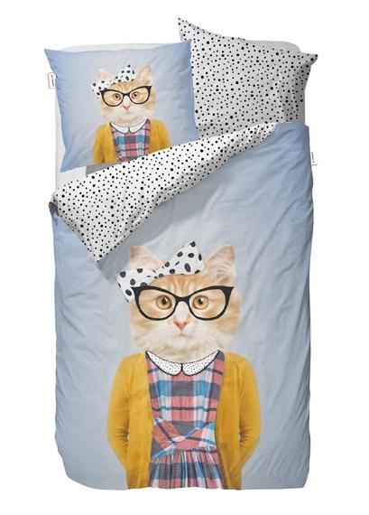 parure de lit 140x200 miss cat file dans ta chambre. Black Bedroom Furniture Sets. Home Design Ideas