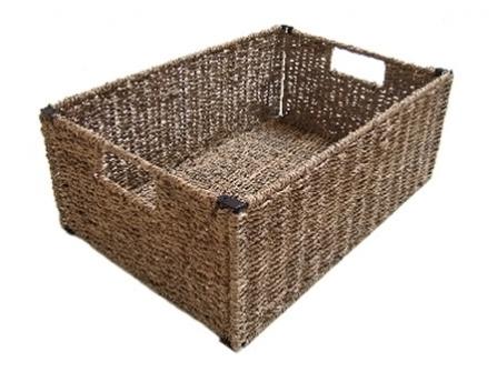 petit panier naturel meuble de bain quax file dans ta chambre. Black Bedroom Furniture Sets. Home Design Ideas