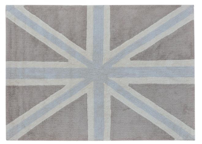tapis union jack 140x200 lorena canals bleu rouge file dans ta chambre. Black Bedroom Furniture Sets. Home Design Ideas