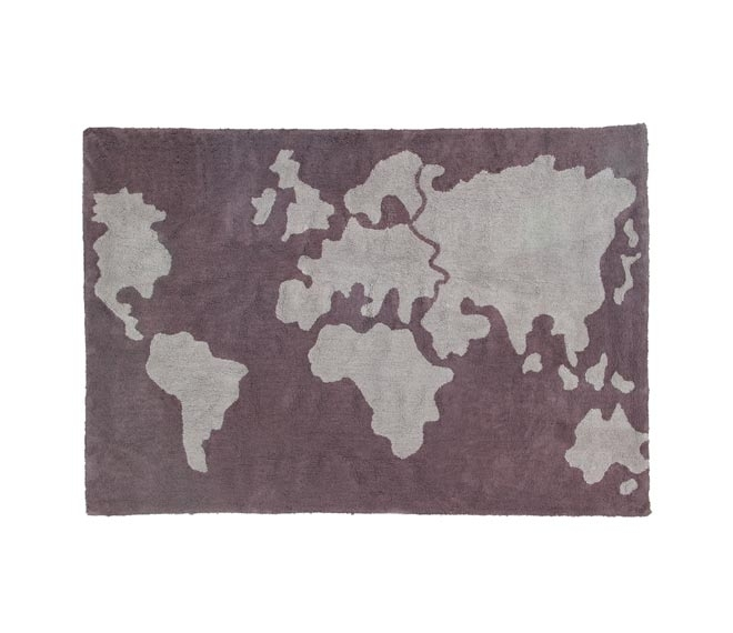 Tapis World Map 140x200