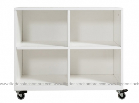 meuble roulettes mix match 4 compartiments bopita file dans ta chambre. Black Bedroom Furniture Sets. Home Design Ideas