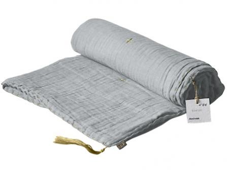 plaid 80x110 gaze numero 74 gris anthracite file dans ta chambre. Black Bedroom Furniture Sets. Home Design Ideas