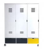 Armoire à roulettes Mix & Match Locker 3 portes