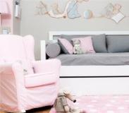 chambre tapis pois coton enfant pois rose - Tapis Chambre Bebe Rose