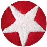detail tapis chambre ado laine rouge etoile - Tapis Ados