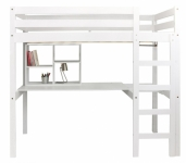 Lit mezzanine stripy avec bureau blanc file dans ta for Lit mezzanine bureau blanc